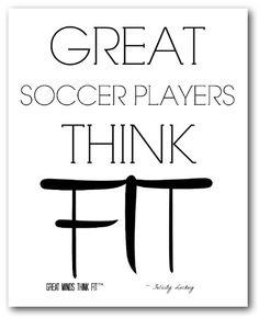 #Soccer Poster in White
