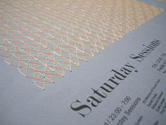 The Saturday Sessions - Ministry of Sound by Cat Hamilton, via Behance