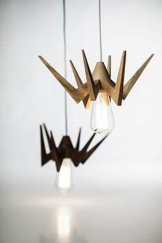 SpiderLamp by AROUNDtheTREE- More than a Light -ORDER NOW #light #woodlighting #aroundthetreedesign #interior #interiordesign