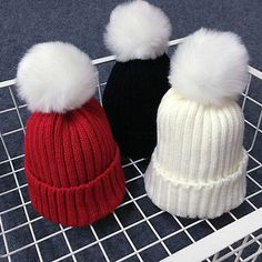 2016 Hot Sale Baby Hat New Cute Baby Toddler Kids Newborn Boys Girls  Knitted Crochet Beanie Winter Warm Hat Cap New Arriving af2364c461bd