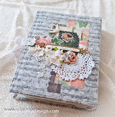vintage style blessing book for wedding