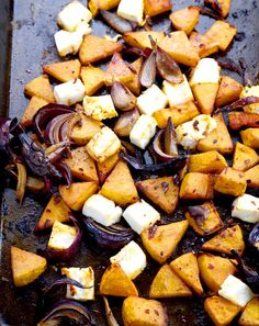 Harissa Roasted Butternut Squash with Feta – thelastfoodblog.com