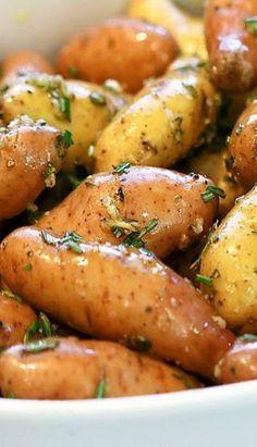 Roasted Fingerling Potatoes on Pinterest | Potatoes, Fingerling Potato ...