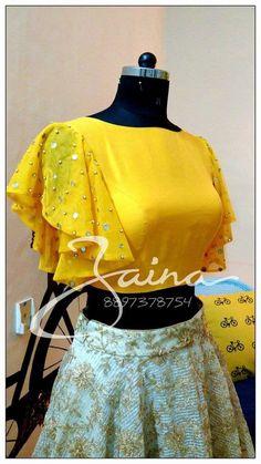 New stylish kurti neck designs for women - ArtsyCraftsyDad Lehenga Designs, Saree Blouse Neck Designs, Fancy Blouse Designs, Kurti Neck Designs, Neck Design For Kurtis, Dress Neck Designs, Kurti Sleeves Design, Sleeves Designs For Dresses, Stylish Blouse Design