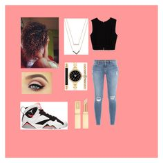 """""""Jordan outfit on fleek"""" by janelee7549 ❤ liked on Polyvore featuring Retrò, Frame Denim, Zara, Michael Kors and Style & Co."""