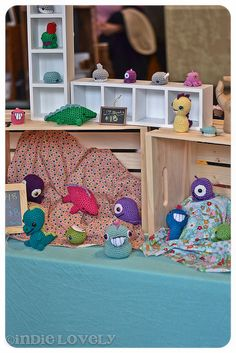 Cute craft booth, I could make something like this for my American girl dolls.