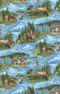 Wild Blue Yonder Grazing Elk Scenic Sky Blue