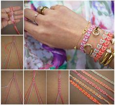 DIY Heart Friendship Bracelet