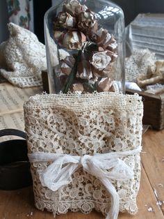 Vintage Lace Wedding supplies Venetian Lace Flounce by BrocanteArt, £32.00