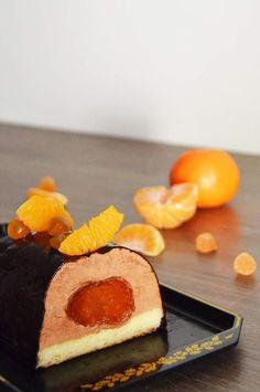 Fourchette et Mascara (@johannablog) nous propose une délicieuse recette de  Bûche chocolat avec les clémentines confites Cruzilles