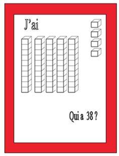 Jeu mathématiques : qui a ... ? - Le petit cartable de Sanleane Plus