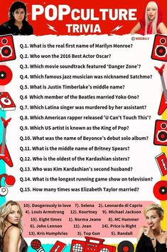 Let's find out how good you are with the latest trends with our extensive list of Pop culture Trivia questions & answers quiz. Play on and score maximum. Pop Culture Quiz, Pop Culture Trivia, 90s Pop Culture, Culture Art, Culture Quotes, Simpson Art, Bart Simpson, Fun Trivia Questions, Trivia Questions And Answers