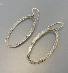 Silpada Sterling Silver Oval Hoop Earrings by jujubee1 on Etsy