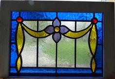 Victorian Flower Leaded Stained Glass Window | eBay