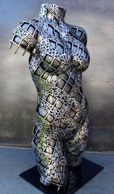 """Original steel sculpture by Scott Wilkes """" Sweet Slumberling """" Metal Sculpture Wall Art, Steel Sculpture, Welding Art, Metal Welding, Mannequin Art, Types Of Welding, Melting Metal, Celtic, Metal Art Projects"""