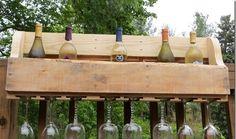 Como hacer un porta vinos con pallets 9