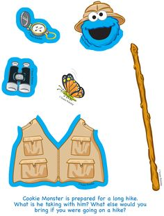 cookie monster paper doll items 2
