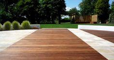 Contemporary Hardwood Deck & Stone from Successful Garden Design