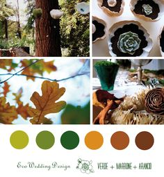 Matrimonio green colore verde arancio marrone Green wedding colors green brown orange