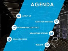agenda design template with big band from top right to lower left powerpoint slide Slide01