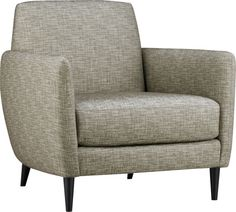 parlour tweed chair  | CB2  Eco-friendly materials.  (Site button)