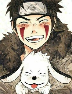 Kiba Inuzuka and his dog