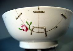 Very Fine English Soft Paste Pottery Bowl w/ Floral Decoration ca. 1760