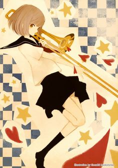 anime playing trombone - Google Search