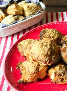 Buttermilk Oven Fried Chicken from @Jaline in the Little Red Kitchen