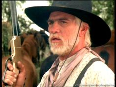 """Movie ScreenShots: Lonesome Dove (1989), Tommy Lee Jones character Captain Woodrow F. Call does """"not tolerate rude behavior."""""""