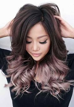 Rose gold balayage ombre on brunette hair. Are you looking for blonde balayage hair color For Fall and Summer? See our collection full of blonde balayage hair color For Fall and Summer and get inspired!