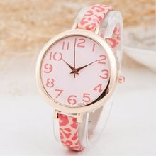 New Arrival Slim Strap Leopard Pattern Women Watches Luxury Brand Dress Wristwatch Elegant Lady Quartz Watch Reloj Mujer Clock