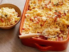 Get Mac 'N Cheese with Bacon and Cheese Recipe from Food Network