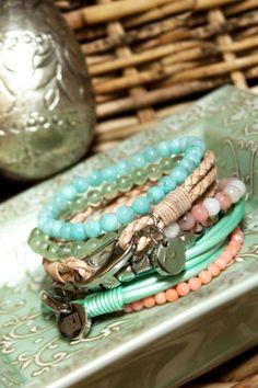 candy color armband kombination pastell metallic