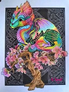 Bennett Klein Colour My Sketchbook Dragons Babe Colored Pencil TechniquesJohanna BasfordArtist