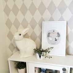 Kids room details, harlequin wallpaper