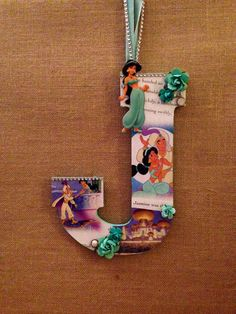Any letter in Disney Princess Jasmine custom by SpikaInteriors