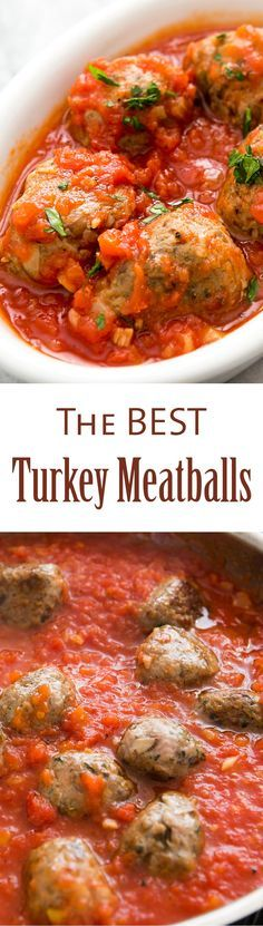 Best turkey meatballs EVER! With this method, they are tender and moist, never dried out. #healthy On SimplyRecipes.com