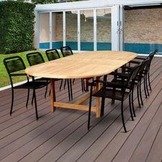 Beachcrest Home Nettleton 9 Piece Teak Dining Set Backyard Furniture, Patio Furniture Sets, Outdoor Furniture, Modern Furniture, Outdoor Dining Set, Outdoor Decor, Dining Sets, Outdoor Living, Patio Table