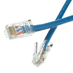 SkuBros Cat5e Blue Ethernet Patch Cable Bootless 100 foot  Unlimited Slim Run Bulk Shielded Double Flat Booted Connecter Lan Network Wire >>> You can get more details by clicking on the image. (Note:Amazon affiliate link) #ComputersAccessories