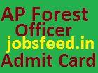 APFDRT Admit Card 2014 AP Forest Officer Exam Hall Tickets Download on apfdrt.org
