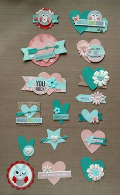 """Embellishments for """"Nested Owls"""" by AdornIt Diy Crafts For Gifts, Diy Arts And Crafts, Handmade Gift Tags, Candy Cards, Fancy Fold Cards, Scrapbook Designs, Scrapbook Embellishments, Scrapbook Paper Crafts, Card Tags"""