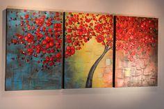 Original #06 Studio Mojo Artwork Original Triptych Canvas Wall Art