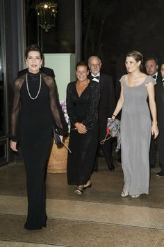 MYROYALS &HOLLYWOOD FASHİON: Monaco's Royal Family-Princess Caroline, Princess Stephanie and Charlotte Casiraghi attended the Amade Mondiale Association Gala Dinner in Monaco, October 4, 2013