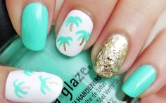 14 Brilliant Beach-Inspired Manis to Try This Summer via Brit + Co