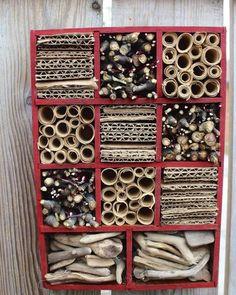 hotel garden diy mason bee house from a thrift find, diy, gardening, repurposing upcycling Bug Hotel, Mason Bees, Bee House, Bee Skep, Save The Bees, Bee Keeping, Garden Projects, Nest, Fairy Gardening