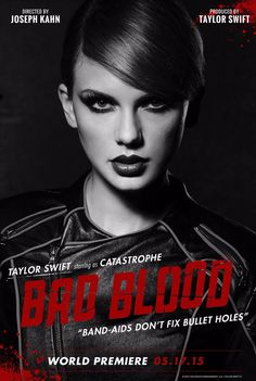 Tay Swift's poster for her new music video is akin to the Sin City movie posters and we love it.