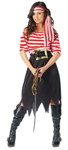 Pirate Maiden Costume - Family Friendly Costumes