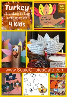 Turkey Thanksgiving activities for kids (edible fall crafts for kids) Thanksgiving Activities For Kids, Thanksgiving Prayer, Fall Crafts For Kids, Thanksgiving Crafts, Thanksgiving Decorations, Crafts To Do, Projects For Kids, Holiday Crafts, Holiday Fun