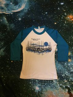 Vintage Mackinac Island Michigan 3/4 Sleeve Super Soft Sail Boat T-Shirt by VintageVanShop on Etsy